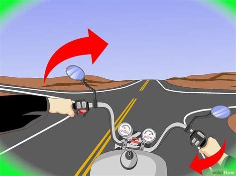 Motorrad Fahren Wikihow by Mit Dem Motorrad Rechts Abbiegen Wikihow