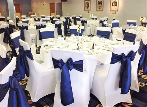 Navy Chair Covers Wedding by Navy Chair Covers Wedding Tbrb Info