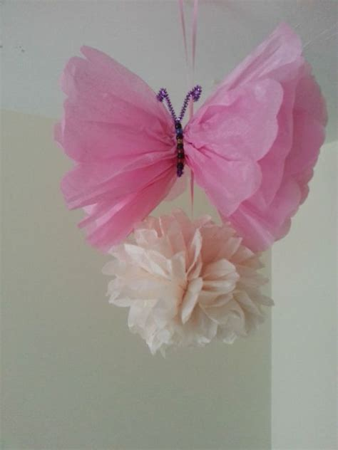 How To Make Tissue Paper Butterflies - details about wedding baby shower butterfly