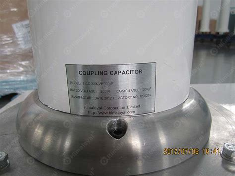 voltage across coupling capacitor coupling capacitor capacitance voltage divider 75kv 100kv and 200kv ac test transformer