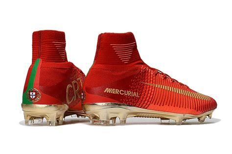 Soccer Nike Mercurial Superfly V Cr7 Fg Gold Terbaru cheap nike mercurial superfly v cr7 fg ceoes soccer cleats gold soccer kp