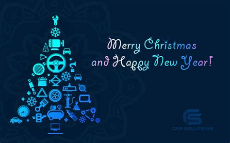 merry christmas  happy  year car solutions