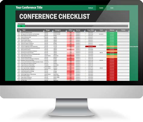 conference event planning checklist template amazing 161 step conference planning checklist excel