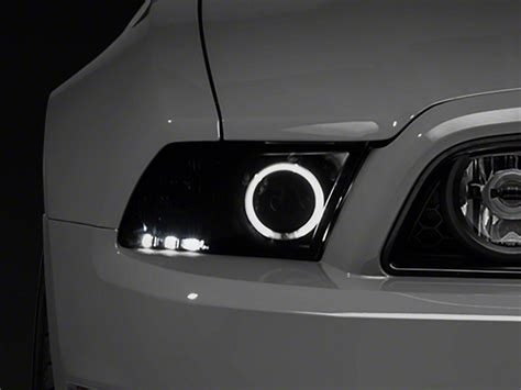 mustang hid lights raxiom smoked mustang projector headlights ccfl halo