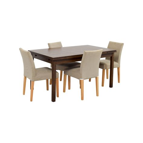 extendable dining table set 73 off muji muji extendable dining table with chairs