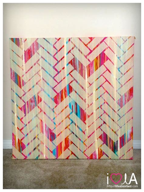 simple pattern to paint diy herringbone pattern painting lifeabsorbed