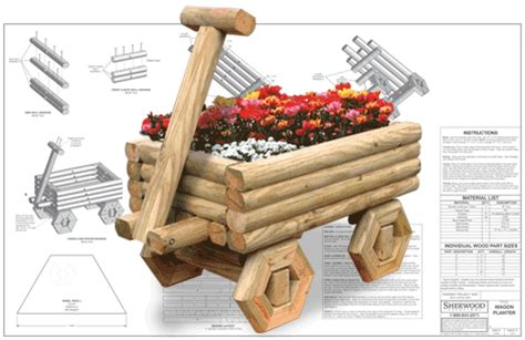 blogger jowas sherwood creations landscape timber wagon planter