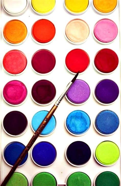 watercolor paint palette colors