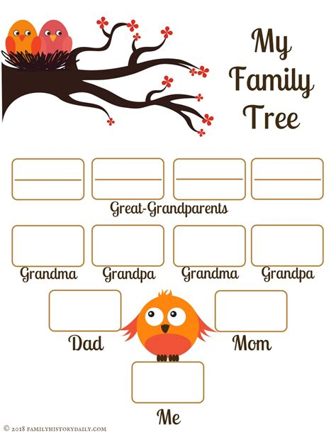family tree project printable 4 free family tree templates for genealogy craft or