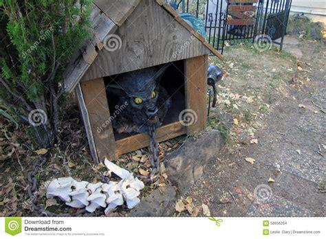 season dog house zombie hound dog in house stock photo image of candy