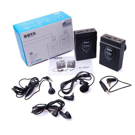 Mic Boya By Wm 5 Wireless For Camerahandy Shooting boya by wm5 wireless lavalier microphone for canon nikon