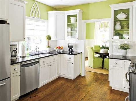Kitchen Cabinet Color Schemes White Kitchen Cabinets Yellow Walls Interior Design
