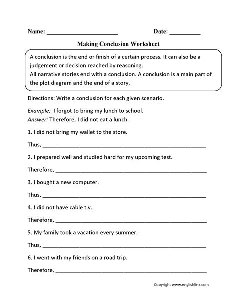 Writing Conclusions Worksheet by Englishlinx Writing Conclusions Worksheets