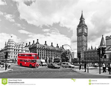 imagenes blanco y negro londres omnibus de londres imagen de archivo editorial imagen de