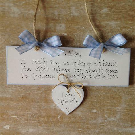Handmade Personalised Gifts - personalised godson christening day keepsake handmade
