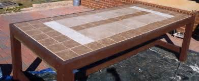 Tile Top Patio Tables Lazy Liz On Less Patio Set Table Cont D