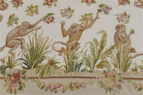 monkey rug made wool needlepoint rug with monkeys at 1stdibs