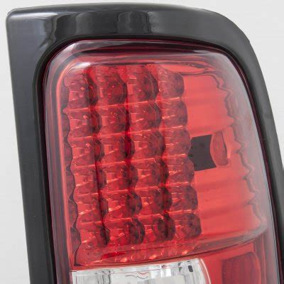 2001 dodge ram tail light dodge ram 1994 2001 red and clear led tail lights