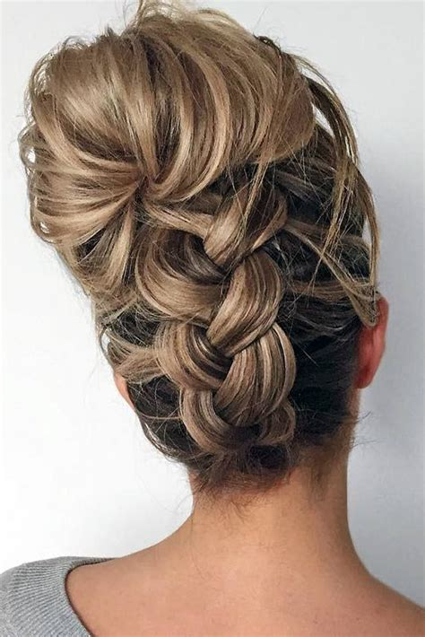Fancy Hairstyles For Medium Hair by Best 25 Medium Length Updo Ideas On Updos For