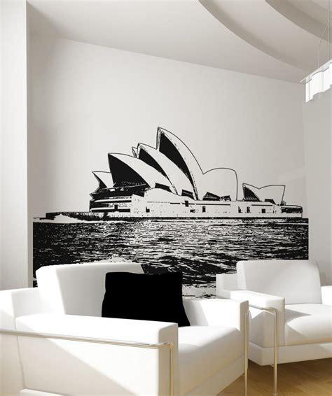 wall stickers sydney vinyl wall decal sticker sydney opera house os aa488