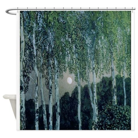 Curtains With Trees On Them Birch Trees On Canvas Shower Curtain By Bridgemanclassic