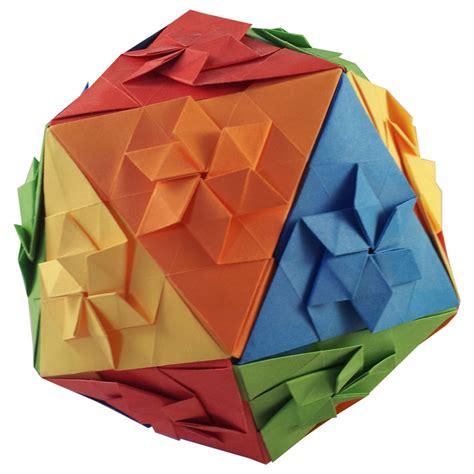 Icosahedron Origami - origami icosahedron evan zodl folded by edward