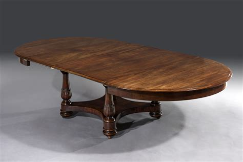 M S Dining Table William Iv 19th Century Circular Mahogany Extending Dining Table Sted M Willson C 1835