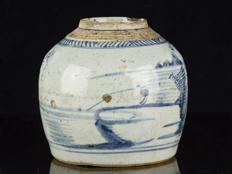 what is ginger jars late ming dynasty chinese blue and white stoneware ginger