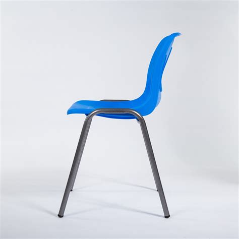 vented plastic chair with iron legs rodman plastics