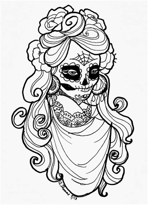 day of the dead coloring pages coloring home