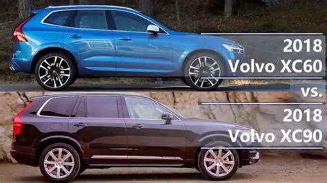 Volvo Xc90 Vs Xc60 2018 Volvo Xc60 Vs 2018 Volvo Xc90 Technical Comparison