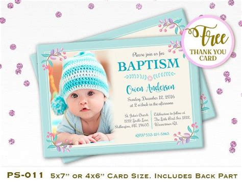 customized invitation card for christening personalized baptism invitation free 7 best baptism