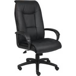 Desk Chair At Walmart Leatherplus Desk Chair With Padded Arms Walmart