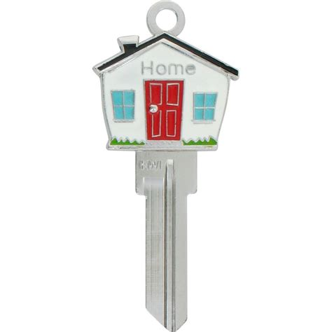 house key the hillman group 66 3d house shape key 94887 the home depot