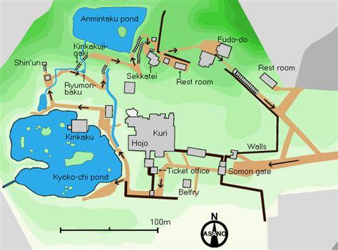 Map Floor Plan by Plan Of Kinkaku Ji Temple Complex
