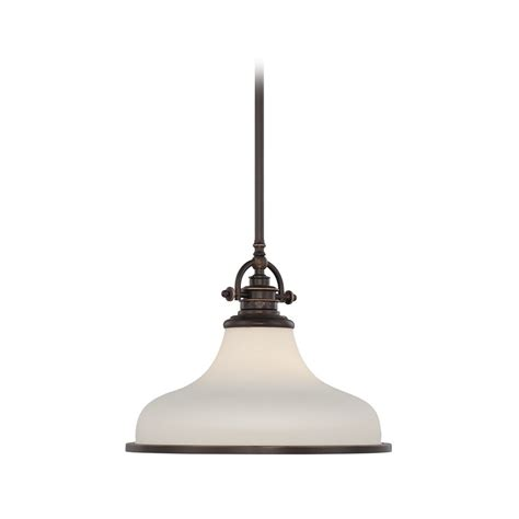 Bronze Pendant Lighting Modern Pendant Light With White Glass In Palladian Bronze Finish Grt2814pn Destination Lighting