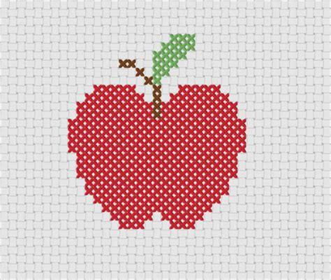 Apple Design Vorlagen Passione Uncinetto Punto Croce Grafici Semplici