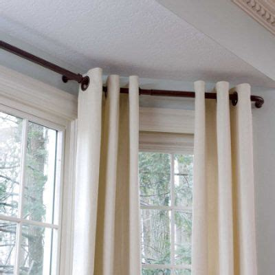 drapery hardware for bay window bay window curtain rods home pinterest