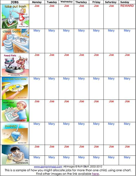 Cup Slime Tebal daily chore chart for