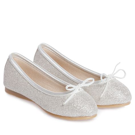 rainbow club silver glitter hessy slip on shoes