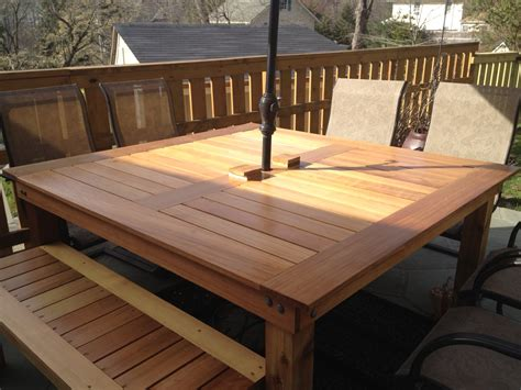 ana white simple square cedar outdoor dining table diy