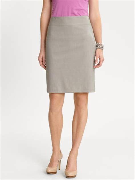 banana republic lightweight wool pencil skirt in brown