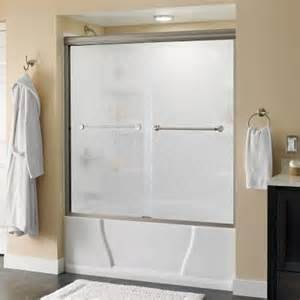 delta shower doors delta mandara 59 3 8 in x 58 1 8 in sliding bypass tub