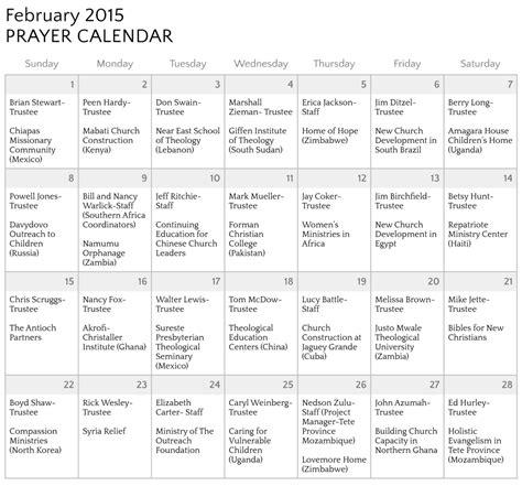 monthly prayer calendar template prayer calendar template calendar templates