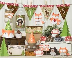 gender neutral woodland animals baby shower supplies