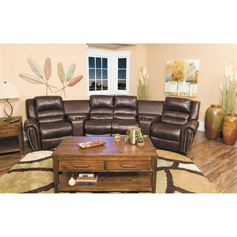 afw sectional 5pc gliding reclining sectional 1h 9596 cambridge home afw