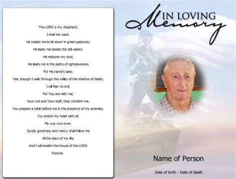 free funeral templates funeral card template should be and impressive