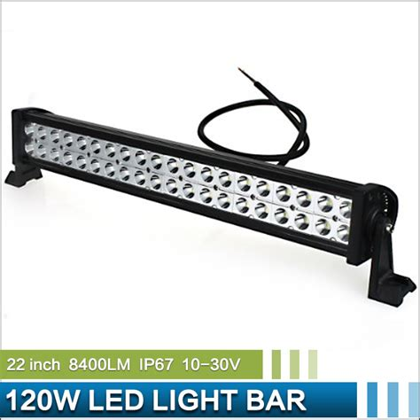 22 Led Light Bar Aliexpress Buy 22 Inch 120w 8400lm Offroad Led Light Bar Epistar Led Combo Beam Working