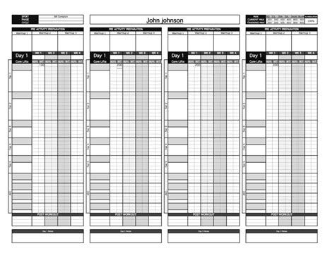 gold strength conditioning templates excel bronze strength conditioning templates excel