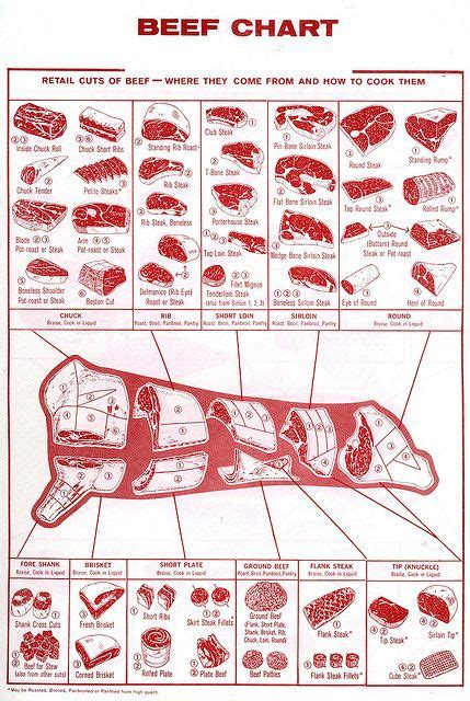 cow cuts diagram beef chart of retail cuts so that you how to prep a